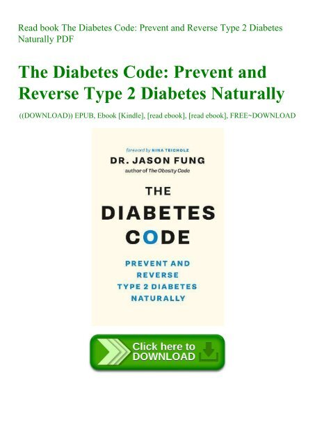 Read Book The Diabetes Code Prevent And Reverse Type 2