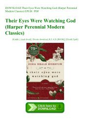 DOWNLOAD Their Eyes Were Watching God (Harper Perennial Modern Classics) EPUB  PDF