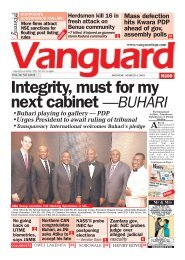 04032019 - Integrity, must for my next cabinet —BUHARI
