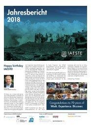 IAESTE Switzerland Annual Review 2018 - German