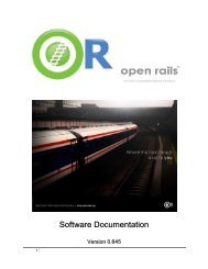 Installation Procedure - Open Rails