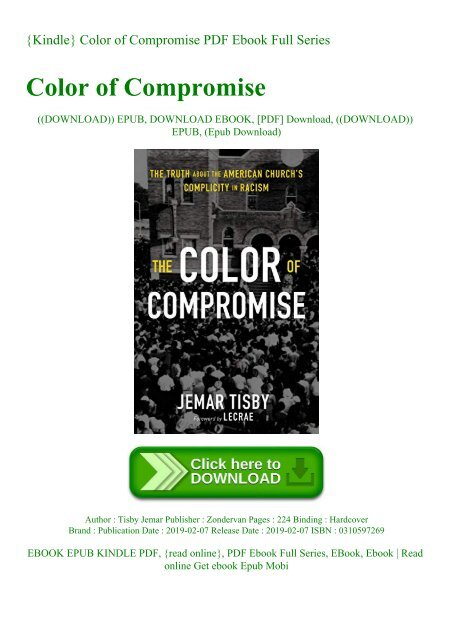 Kindle Color Of Compromise Pdf Ebook Full Series