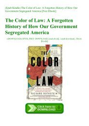 (Epub Kindle) The Color of Law A Forgotten History of How Our Government Segregated America [Free Ebook]