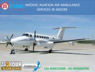 Air Ambulance service in Indore by Medivic Aviation | Air Ambulance service in Jabalpur by Medivic Aviation