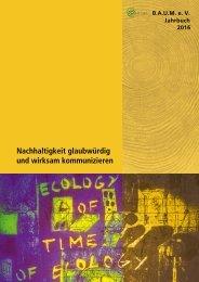 B.A.U.M.-Jahrbuch 2016: Nachhaltigkeit glaubwürdig und wirksam kommunizieren