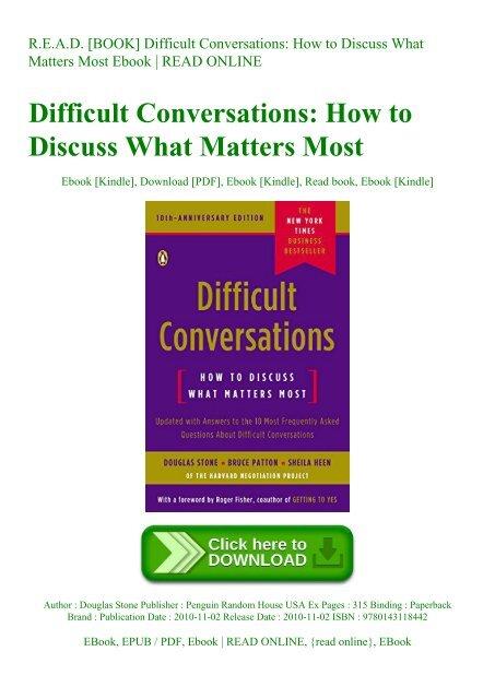 Difficult Conversations Ebook