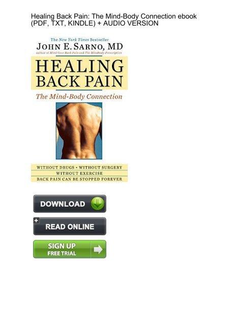 Back pdf sarno healing pain