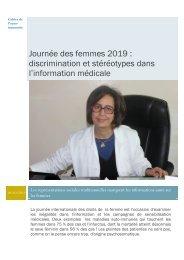 """Journée de la femme : les stéréotypes ont """"la vie dure"""" dans l'information médicale !"""