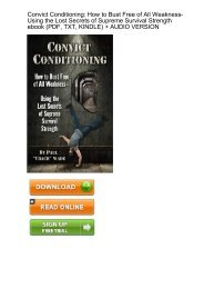 (SELF-SUFFICIENT) Download Convict Conditioning Weakness Using Survival Strength ebook eBook PDF