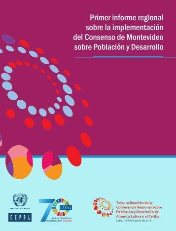 Primer informe regional sobre la implementación del Consenso de Montevideo sobre Población y Desarrollo