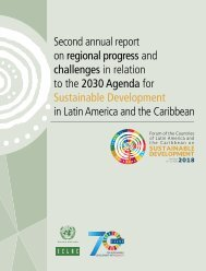 Second annual report on regional progress and challenges in relation to the 2030 Agenda for Sustainable Development in Latin America and the Caribbea