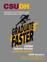 CSUDH Summer Sessions 2019 Bulletin (Interactive)