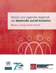 Hacia una agenda regional de desarrollo social inclusivo: bases y propuesta inicial
