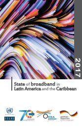 State of broadband in Latin America and the Caribbean 2017