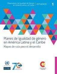 Planes de igualdad de género en América Latina y el Caribe: mapas de ruta para el desarrollo