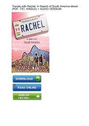 (EUPHORIC) Travels Rachel Search South America ebook eBook PDF