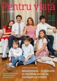"Revista ""Pentru viata"" nr.8 - Primavara 2019"
