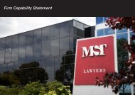 MST Lawyers Capability Statement