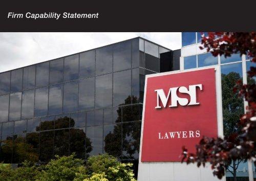 MST Lawyers Capability Statement