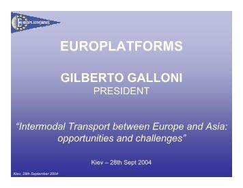 europlatforms gilberto galloni - International Transport Forum