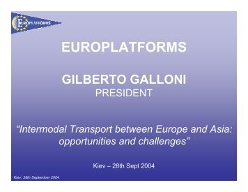 europlatforms gilberto galloni - International Transport Forum