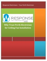 Why Trust Perth Electrician for Ceiling Fan Installation