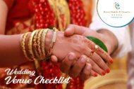 Wedding Venue Checklist - The Raviz Ashtamudi