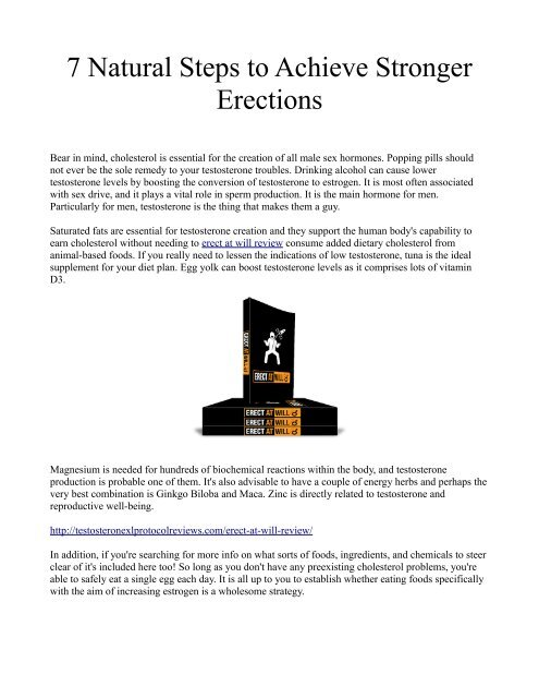 7 Natural Steps to Achieve Stronger Erections
