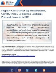 Sapphire Glass Market Analysis, Share and Size, Trends, Industry Growth And Segment Forecasts To 2025