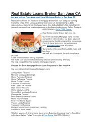 Hii Mortgage Broker San Jose CA   669-235-4649