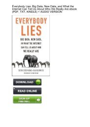 (PRODUCTIVE) Download Everybody Lies Internet About Really ebook eBook PDF