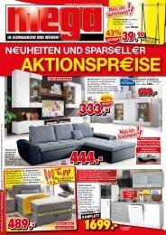Neuheiten + Sparseller - AKTIONSPREISE! mega-Möbel in Schwandorf und Weiden