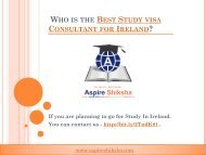 Who is the Best Study visa Consultant - Aspire Shikha