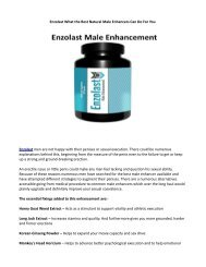 Enzolast Male Enhancement Support Efficacy