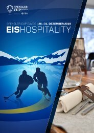 VIP-Hospitality-Angebote Spengler Cup Davos 2019