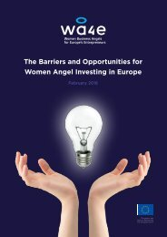 WA4E - The Barriers and Opportunities for Women Angel Investing in Europe