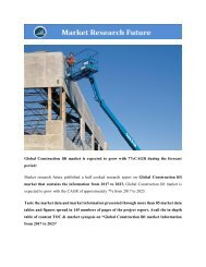 Global Construction lift market