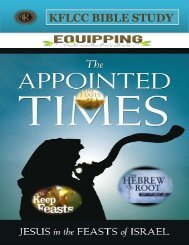Jesus In the Feast Of The Lord Appointed Times
