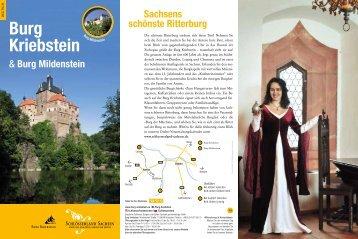 Informationsflyer Burg Kriebstein/Burg Mildenstein