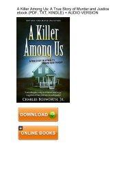 (INSIDER) Killer Among Us Murder Justice ebook eBook PDF Download