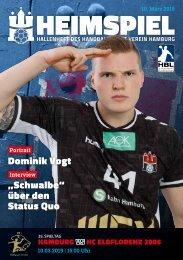 Hallenheft | Handball Sport Verein Hamburg vs. HC Elbflorenz Dresden