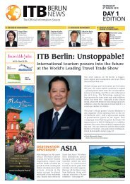 ITB Berlin News 2019 - Day 1 Edition