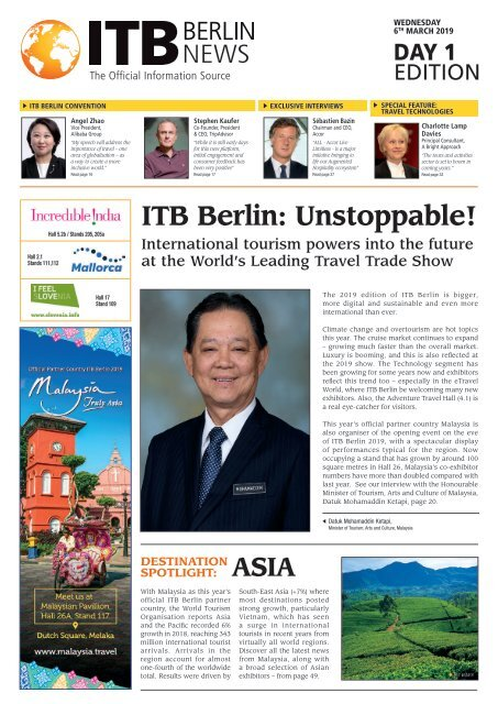 ITB Berlin News 2019 - Day 1 Edition