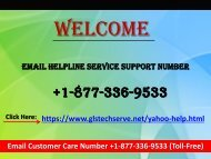 Email Service Support Helpline Number 1877-503-0107