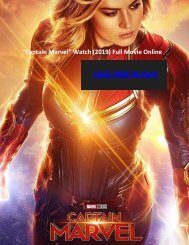 "Captain Marvel"" WatcH (2019) Full Movie Online"