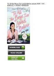 DOWNLOAD] Always and Forever, Lara Jean (To All the Boys I