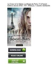 (QUICK) Coeur Sabre Magie Paris French ebook eBook PDF Download
