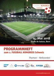 Programmheft 2. FUSSBALL KONGRESS Schweiz