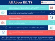 Details on the significance of IELTS