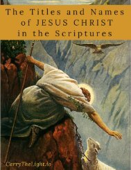 The Titles and Names of Jesus Christ in The Scriptures